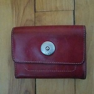 Hype small red leather wallet.